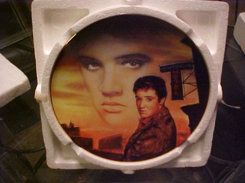 Heartbreak Hotel Elvis Presley Delphi Plate Bradford Exchange