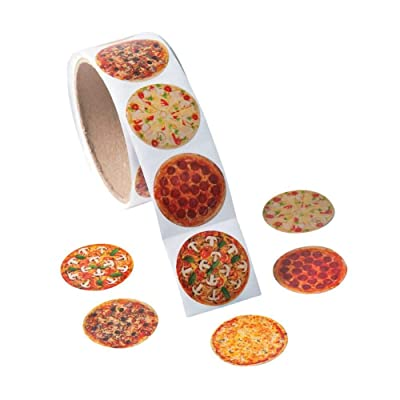 REALISTIC PHOTO PIZZA ROLL STICKERS - Stationery - 1 Piece: Home & Kitchen