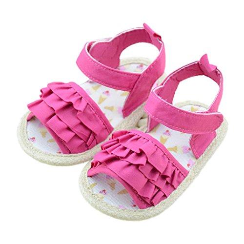 Voberry Baby Girls Summer Prewalker Soft Sole Anti-Slip Sandals