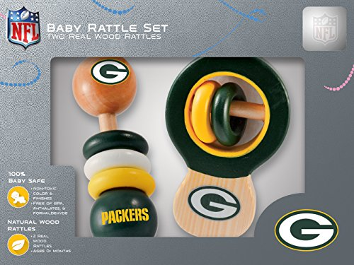 NFL Green Bay Packers Baby Rattle Set - 2 Pack - Green Bay Packers Infant