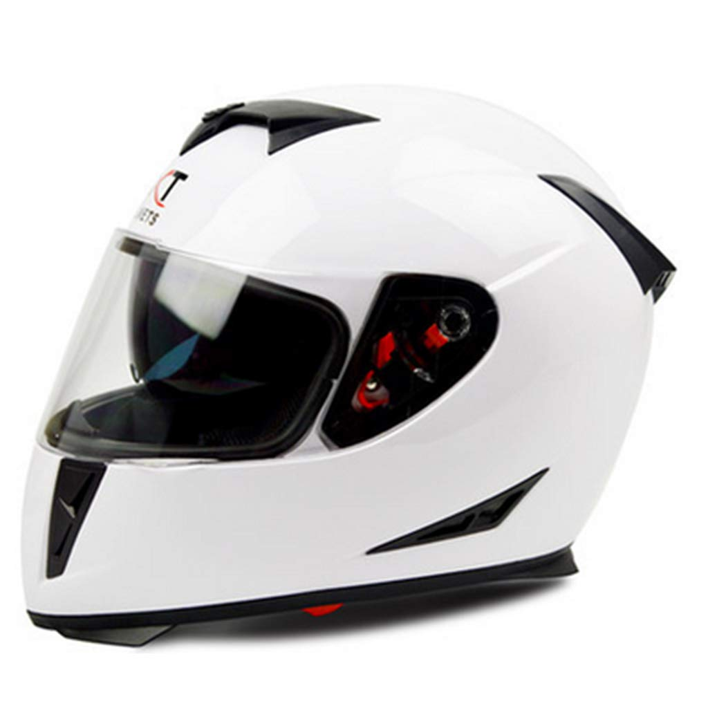 SryWj Helmet Male Winter Motorcycle Double Lens Anti-Fog Helmet Full Face Helmet Electric Car Helmet Full Cover Four Seasons