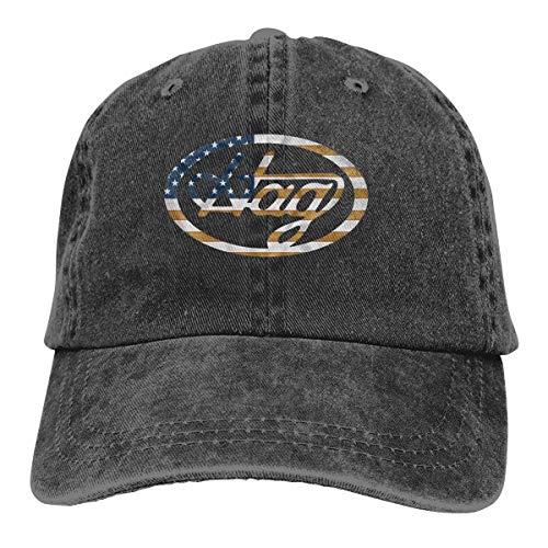 62a16899e Mora-hat America Country Music Merle Haggard Hag Logo Adjustable Visor  Cotton Washed Denim Caps