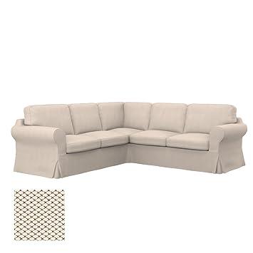 Amazon.com: Soferia Replacement Cover for IKEA EKTORP 2+2 ...