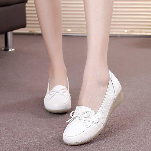 Mamá Dichotomanthes Cuñas Los Superficial Suave Solo Inferior Zapatos Boca Trabajo De Fondo White Enfermera Ssby Blanco nqtPw0W6TI