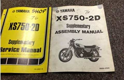 1976 1977 yamaha xs750 2d shop service repair manual set w supp rh amazon com yamaha xs 750 service manual XS 750 Bobber Chopper