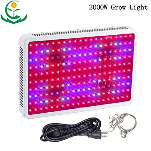 TOPL 2000W Full Spectrum LED Grow Light Bulb 200X10W Double Chip with Better Radiator Fans - Best of (Cheap Grow Lights 1000 Watt)