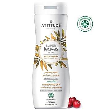 amazon com natural volume shampoo for fine flat hair by attitude