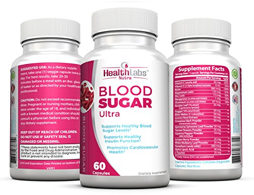 Health Labs Nutra Blood Sugar Ultra – Supports Healthy Blood Sugar Levels, Cardiovascular Health, Strengthens Immune System – Pack of 3