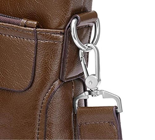 Sección Vertical Bolsa De Mensajero Maletín De Negocios Hombro Del Bolso Del Paquete Del Bolso De Los Hombres Con Discapacidad Brown1
