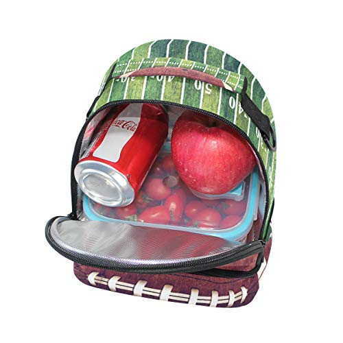correa almuerzo para fútbol de para americano diseño bandolera de campo deportivo picnic doble ajustable Bolso enfriador y el fzxH6BIxn