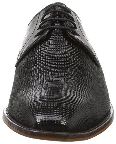 Melvin&Hamilton Alex 1, Zapatos de Cordones Derby para Hombre Schwarz (Venice Haina/Venice Black LS)