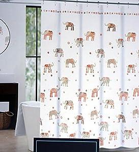 Amazon.com: Cynthia Rowley Fabric Shower Curtain Brown Taupe Beige ...