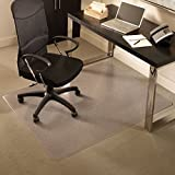 ES Robbins Everlife 60'' x 72'' Medium Pile Series Rectangle Anchorbar Chair Mat, Clear