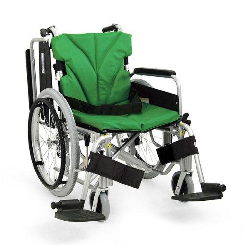 カワムラサイクル アルミ製 自走式車椅子 座幅42 前座高40.5 エコ黒 モジュールタイプ 肘跳ね上げ KA820 B007M47COY