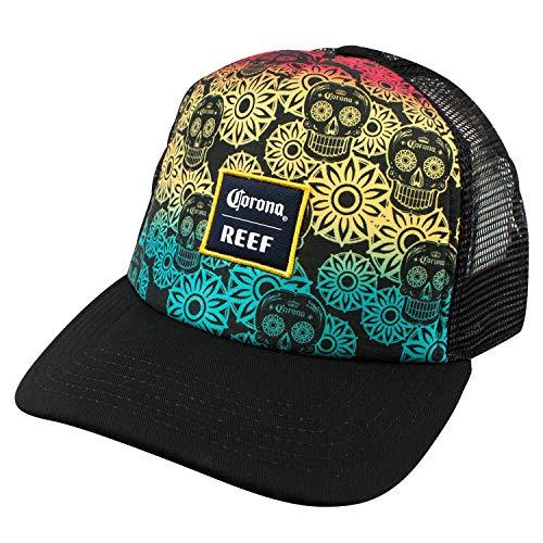 (Corona Reef Rainbow Sugar Skull Trucker Hat)