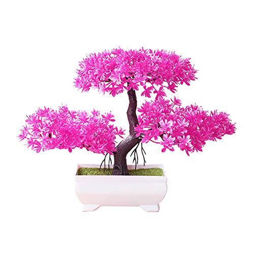 dezirZJjx Artificial Plants Welcoming Pine Bonsai Simulation Artificial Potted Plant Ornament Home Decor - ()