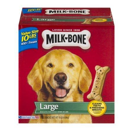 Milk Bone Large Dog Snacks, 10.0 LB box of Bones/Treats