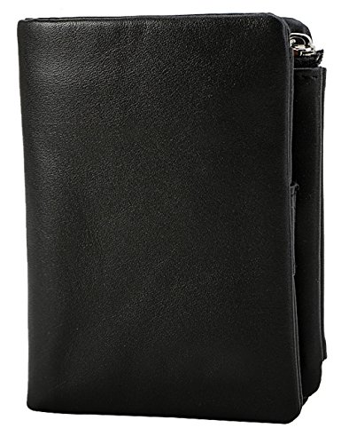 Men's Black Fashion Leather Genuine Wallet Minimalist Slim 13cm Wallet Wallet 4r4qR