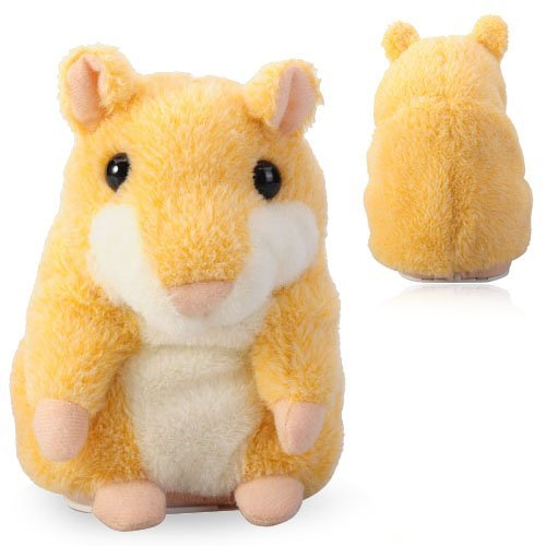 LUQUAN Cute Mimicry Pet Hamster Copy Voice Pet Talking Plush Toy Gift For Kids - Yellow by LUQUAN