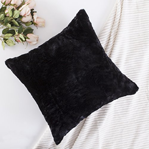 Home Brilliant Plush Deluxe Fluffy Mongolian Faux Fur/Suede Cozy Sheepskin Large Euro Throw Pillow Sham for Floor, Pillow Not Included, 1 Pc, 26