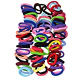 Accessories Girls Best Deals - Lolitarcrafts 90pcs 8mm Mix Colors Girls Elastic Hair Ties Bands Rope Ponytail Holders Headband Scrunchie Hair Accessories