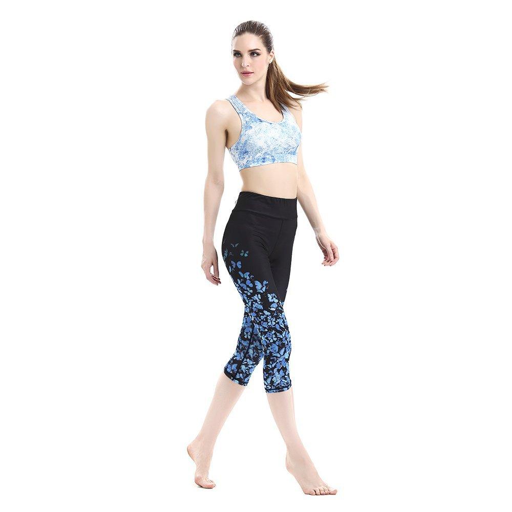 Pinjeer Hohe Taille Elastische Frauen Leggings Hosen mit Sexy Yoga BH Sets Fitness Sport Yoga Hosen Beschnitten Hose Yoga Leggings Anzüge