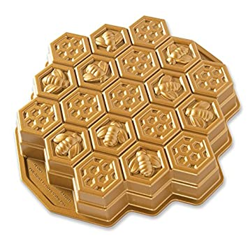 Nordic Ware 85477 Honeycomb Pull – Apart Pan, One Size, Gold