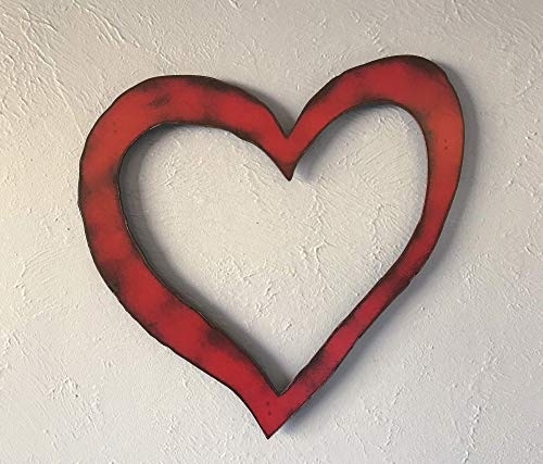 Shabby Chic Heart - Metal Wall Art Home Decor - Choose 8.5