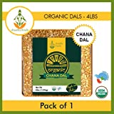 Shastha Organic Chana Dal - 4 Lbs (Certified by USDA & Indian Organic) B-P