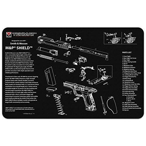 Ultimate Arms Gear Smith & Wesson S&W M&P SHIELD Gunsmith & Armorer's Cleaning Work Tool Bench Pistol Handgun Gun Mat