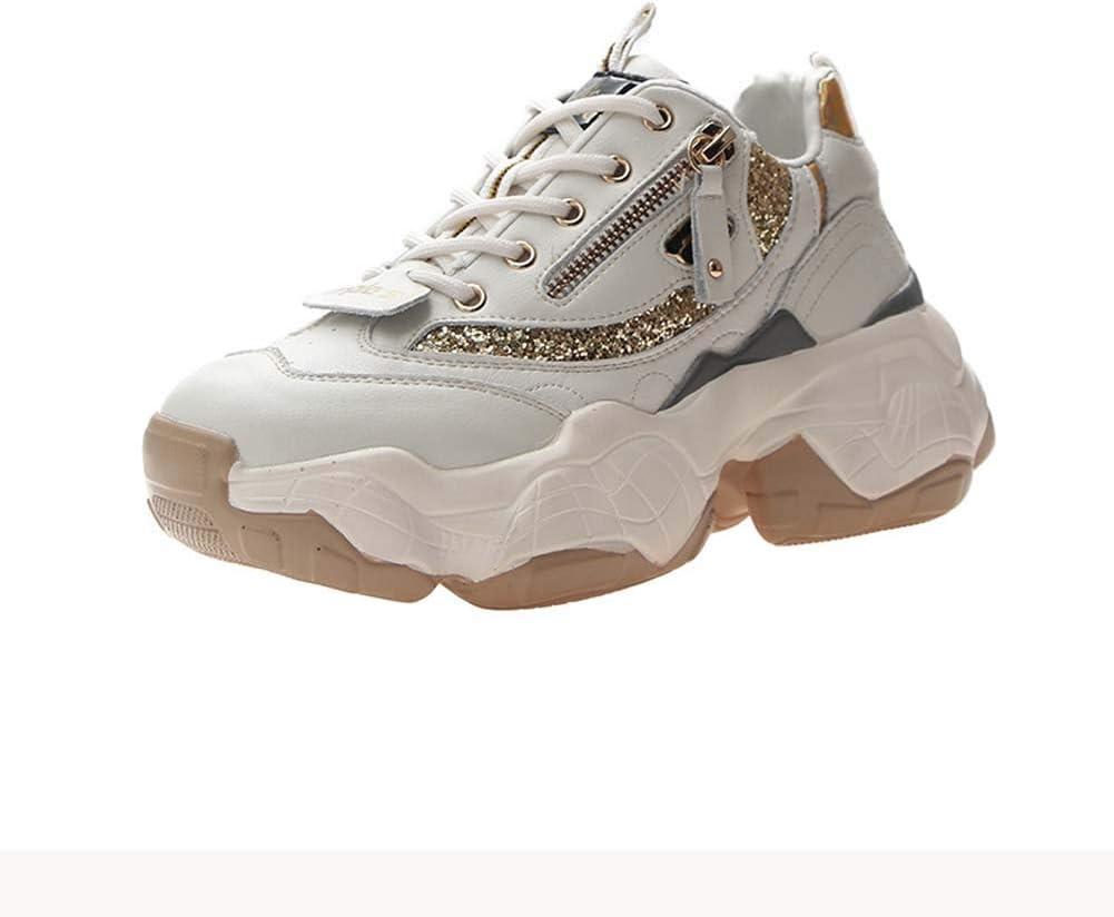 SHOES-HY Zapatillas de Deporte para Mujer Zapatillas de Deporte para Correr de Trabajo ultraligeras y cómodas Zapatillas de Gimnasia para Caminar,Beige,39: Amazon.es: Jardín