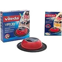 Vileda Virobi Robot Sweeper and One Package of Virobi 20 Pack Refill Pads Bundle