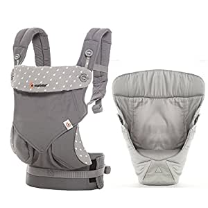 ergobaby 360portador 4posiciones portabebés Colección Style–de 0a del paquete de (3,2–20kg), dewy Grey portabebés con Grey