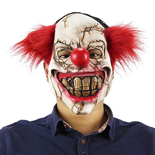 Halloween Horror Night Party Cosplay Porp Latex Scary Funny Joker Trick Clown Full Head -