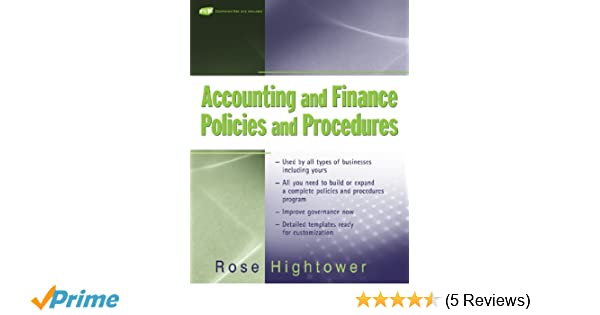 accounting and finance policies and procedures with url 9780470259627 economics books amazoncom