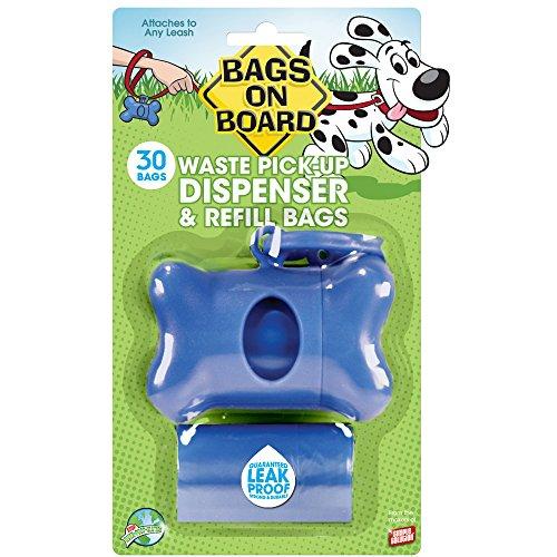 Simple Solution Bags On Board Plain Bone Bag Dispenser (One Size) (Blue)