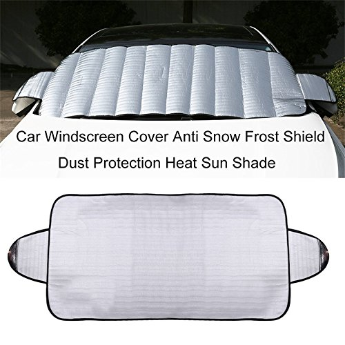 ningbao771 Practical Car Windscreen Cover Anti Ice Snow Frost Shield Dust Protection Heat Sun Shade Ideally for Front Car Windshield