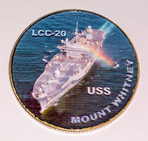 Navy USS Mount Whitney LCC-20 Colorized Challenge Art Coin
