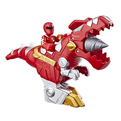 "Playskool Heroes Power Rangers Red Ranger & T-Rex Zord 2 Pack, 3"" Action Figure & Zord Set, Collectible Toys for Kids Ages 3 & Up"