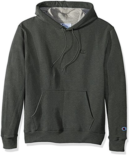 Champion Men's Powerblend Pullover Hoodie, Forest Grove Heather, Small ()