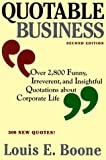 Quotable Business, Louis Boone, 037570308X