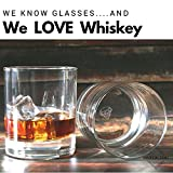 Taylord Milestones Whiskey Glass, Premium 10 oz Scotch Glasses, Set of 2 Rocks Style Glassware for Bourbon and Old Fashioned Cocktails