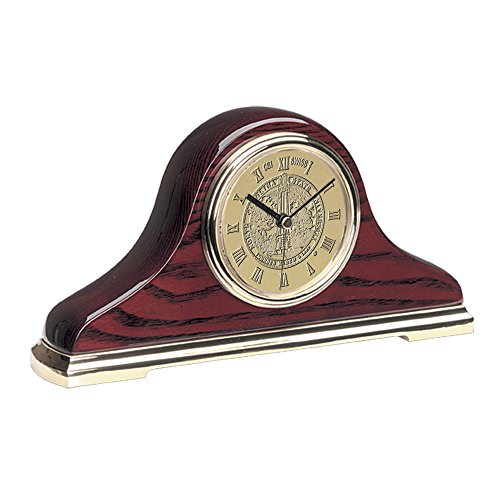 AdSpec NCAA North Carolina State Wolfpack Adult Napoleon Ii Mantle Clock, One Size, Gold