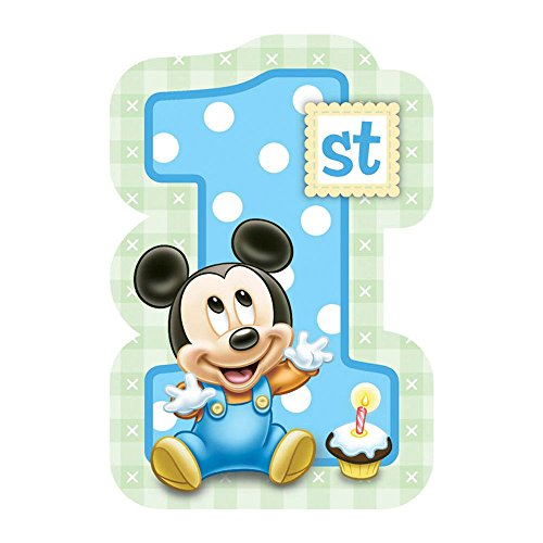 Mickey Mouse 1st Birthday Invitations w/ Envelopes (8ct)