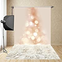 FUS 5X10FT Latest Waterproof Cotton Polyester Photography Background Washable Christmas Backdrop shinning bokeh FD-9715