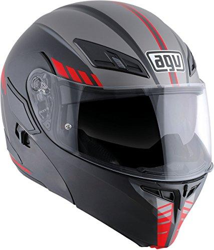 (AGV Numo Evo ST Helmet - Portland (LARGE) (MATTE BLACK/SILVER/RED))