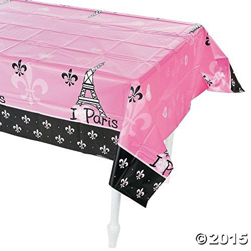 Fun Express Perfectly Paris Plastic Tablecloth (54