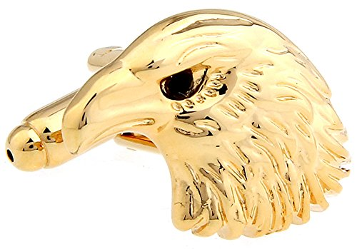 Eagle Cufflinks Head - Eagle Head Cufflinks Eagle Cuff-links with Velvet Gift Box