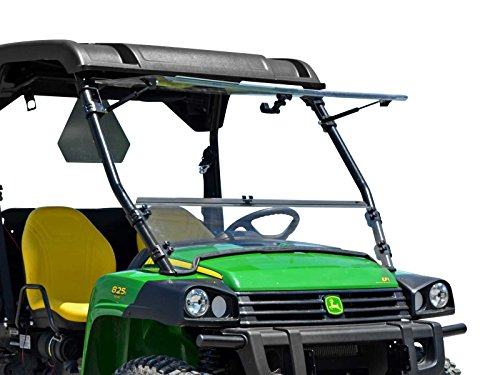 - SuperATV Heavy Duty Scratch Resistant 3-in-1 Flip Windshield for John Deere Gator HPX / 620i / 825i / XUV 850 / XUV 855D / 625i (See Fitment for Years) - Can be Set to Open, Vented, or Closed!