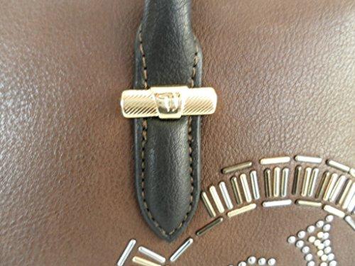 TRUSSARDI borsa bauletto a mano e tracolla donna 75B00064 marrone in ecopelle